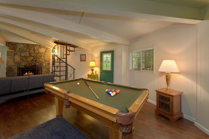 Lower Level Game Room with Pool Table - The Birds Nest