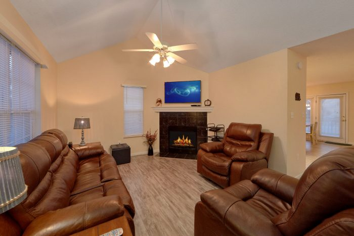 Vacation Home with Fireplace and Recliners - The Bunkhouse
