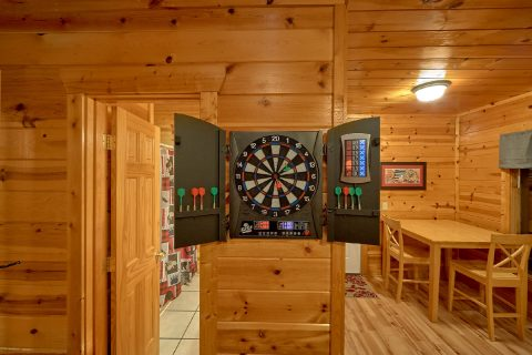 Game Room with Dart Board and Pool Table - The Majestic