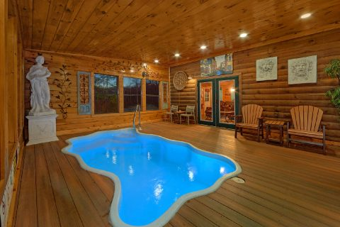 Indoor Pool 2 Bedroom 3 Bath Cabin Sleeps 6 - The Waterlog