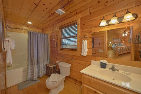 Main Floor Bedroom and Full Bath Room - The Woodsy Rest