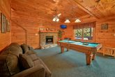 Cabin with pool table and 2 hot tubs