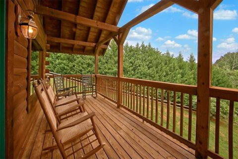 7 bedroom cabin with covered deck - Timber Lodge