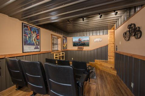 Theater Room Area 2 Bedroom Cabin - Tin Pan Alley