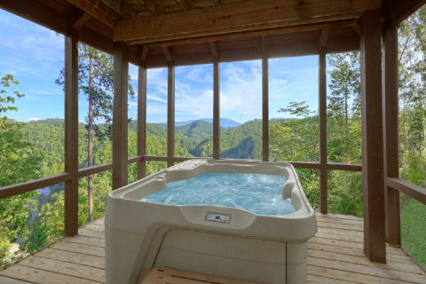 Private Hot Tub with Views 2 Bedroom Cabin - TipTop