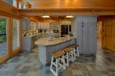 Fully Furnished Kitchen in luxury cabin rental