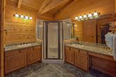 Master bath with Sauna in 6 bedroom cabin