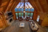 Luxury cabin rental with mountain views