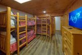 Family Size cabin with bunk bedroom and TV