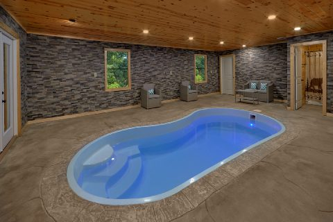 Heated Indoor Pool at 6 bedroom luxury cabin - Top Of The World