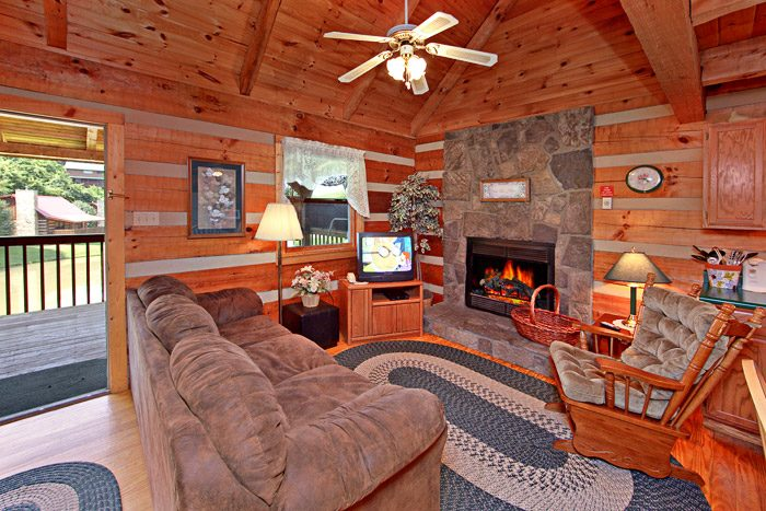 Living Room with Fireplace - Tucked Away