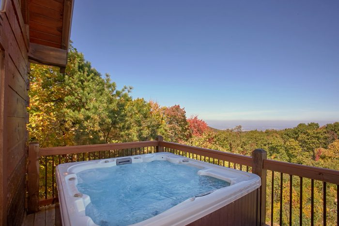 Spectacular Views from Hot Tub 3 Bedroom Cabin - View Topia Falls
