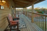 2 Bedroom cabin with rocking chairs on deck