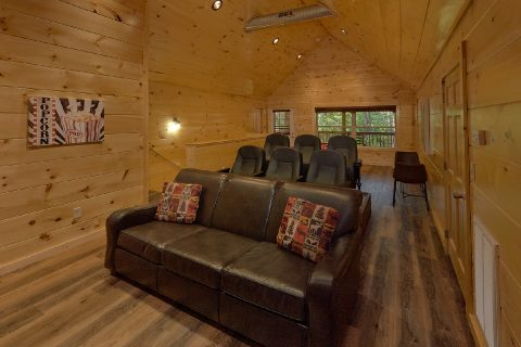 Theater Room in Luxury 4 bedroom cabin rental - Whistling Dixie