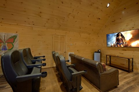 Theater Room in Pigeon Forge cabin rental - Whistling Dixie