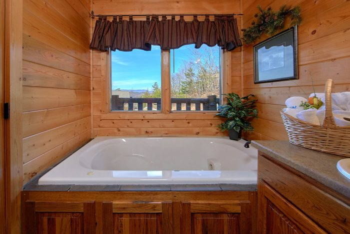 Private Jacuzzi in Master Bathroom - Wilderness Lodge