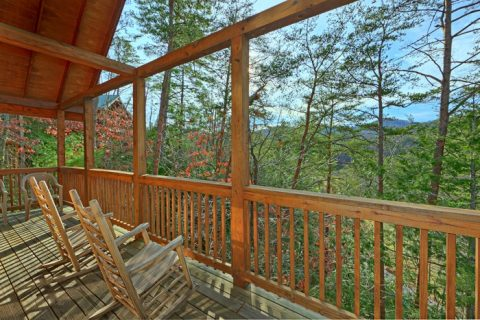 Luxurious 5 bedroom cabin with wooded view - Wilderness Lodge