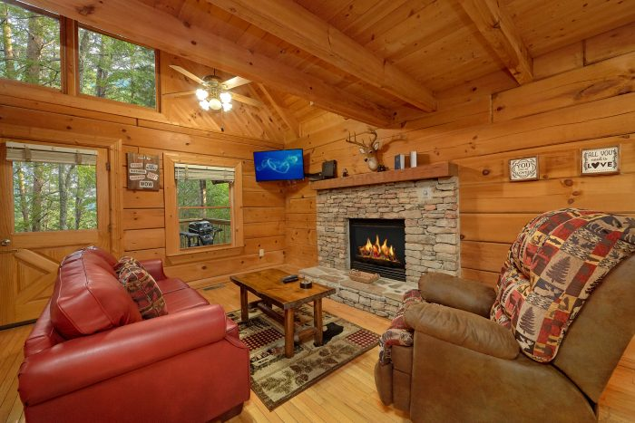 1 Bedroom Cabin with Living Room & Fireplace - Wildflower Haven