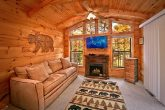 Cabin with electric fireplace and TV