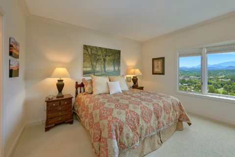 King Bedroom with Large TV and Mountain View - Wow! What A View