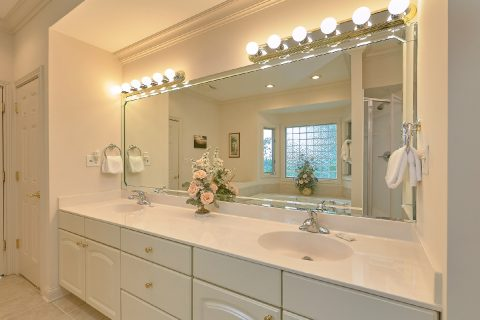 Master Bathroom with His and Her Sinks - Wow! What A View